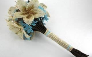 Как сделать своими руками букет невесты из бисера – мастер-класс