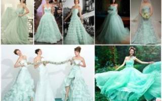 Как выбрать для невесты мятное платье на свадьбу – обзор модных вариантов