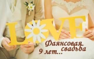Идеи для подарков и поздравлений с 9 годовщиной свадьбы – что подарить на фаянсовый юбилей