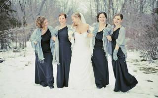 Зимнее свадебное платье: наиболее подходящие варианты