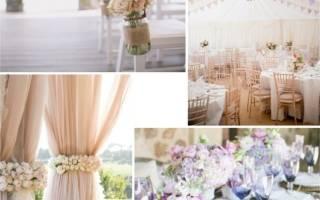 Свадьба в пастельных тонах: оформление зала