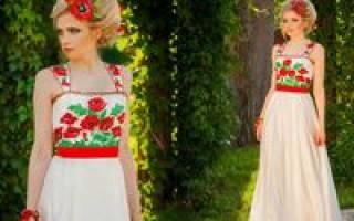 Колоритные свадебные платья в славянском, украинском стиле