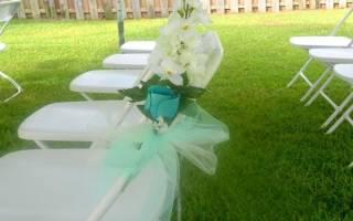 Как завязать бант на свадебный стул своими руками
