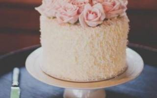 Одноярусные торты на свадьбу – удивите гостей ярким вкусом и оформлением