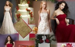 Рекомендации по оформлению свадьбы в красном цвете: самое важное