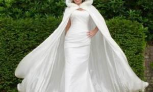 Обзор модных накидок на свадебное платье на осень и зиму – как сшить своими руками