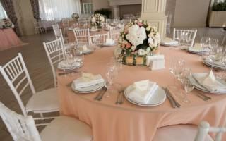 Персиковая свадьба – оформление зала, выбор аксессуаров