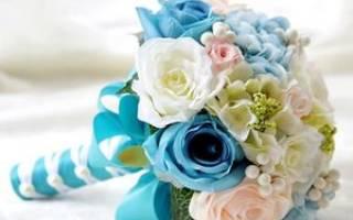 Оригинальные букеты невесты в стиле тиффани и цвета айвори