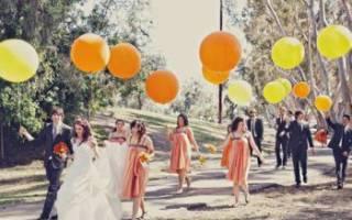 Креативная свадебная фотосессия с воздушными шарами и мыльными пузырями