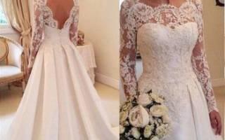 Романтические свадебные платья с кружевом – модели для стильных невест