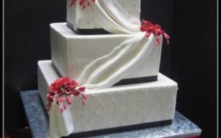 Квадратные и прямоугольные свадебные торты – необычные формы и яркие вкусы