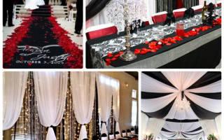 Идеи для черно-белой свадьбы: контрастные цвета для яркого торжества