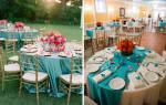 Нежное оформление свадьбы в бирюзовом цвете: все подробности