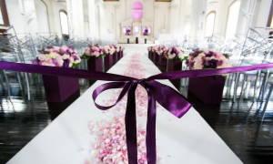 Идеи оформления свадебного зала в фиолетовом цвете