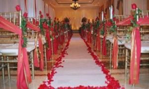 Оформление зала на свадьбу в красно-белом цвете – как правильно расставить яркие акценты