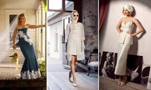 Открытые свадебные платья – актуальные наряды для невест с рукавами и без