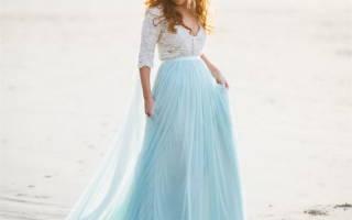 Как стильно оформить бело-голубую свадьбу